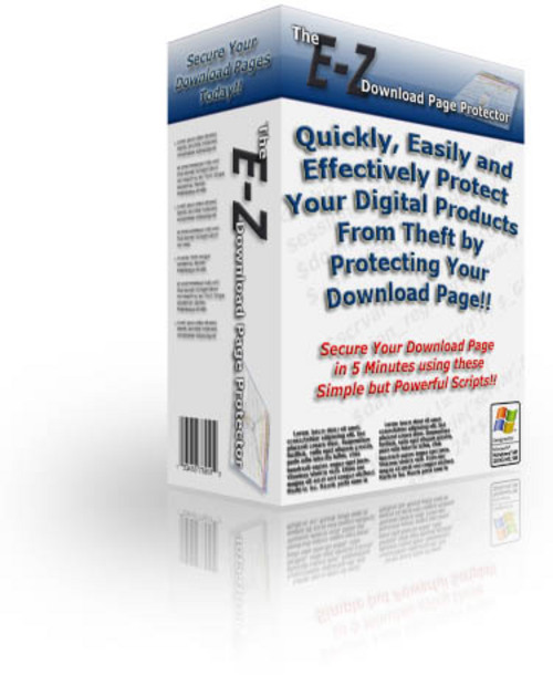 Product picture E-Z Download Page Protector - MRR - Sales Website